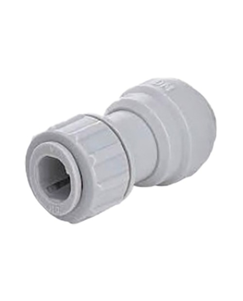 Straight intermediate quick connector– push-to-connect tube power 3/8-3/8.