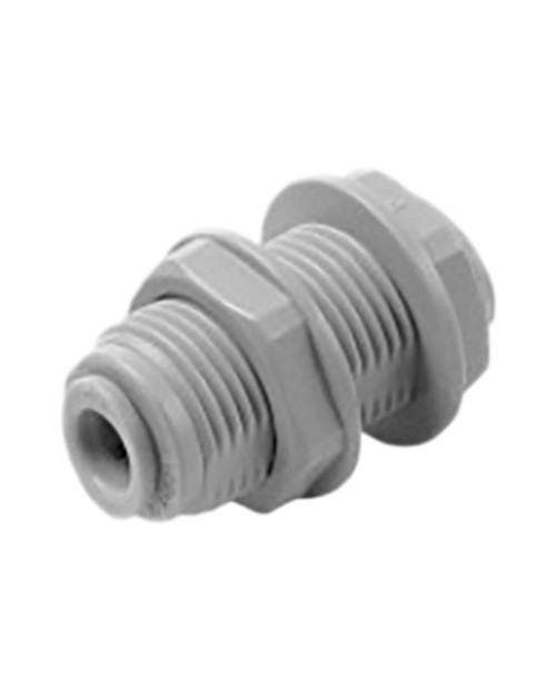 Bulkhead quick coupling with 3/8 tube plastic tap nut