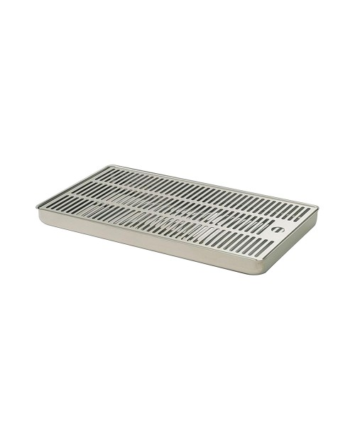 Stainless steel drip tray for tapping systems. Sizes 30x18cm.