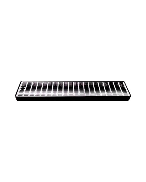 Drip tray with plastic rack and stainless steel grid 60x15 – h.35mm