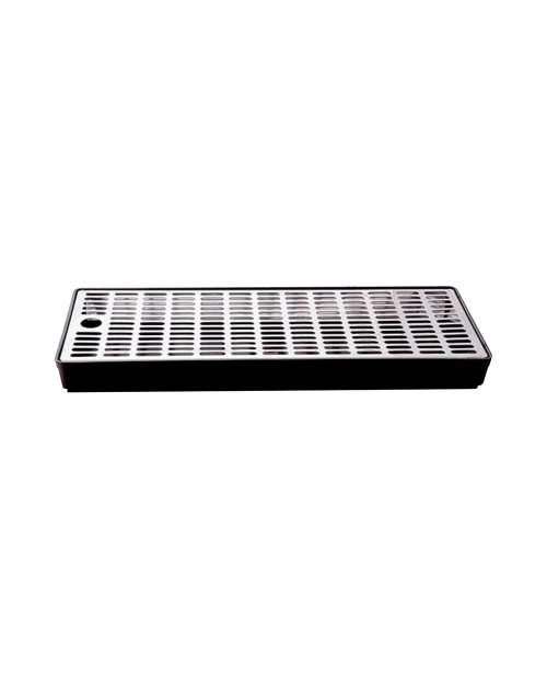 Drip tray with plastic rack and stainless steel grid 40x15 – 35mm