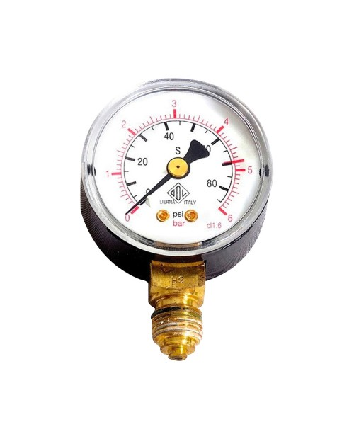 Pressure gauge clock 6 bar