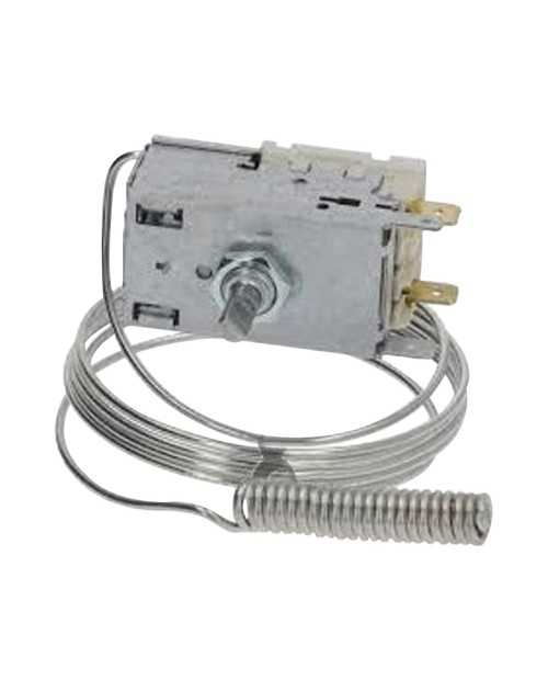 Thermostat with spiral probe