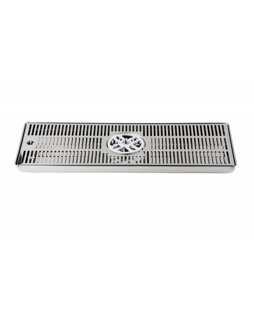Drip tray with side rinser 40x22
