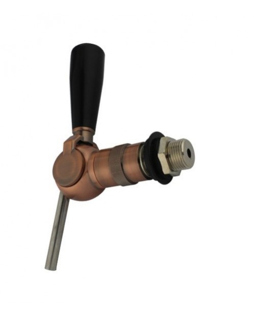 Copper-plated ball valve with brass body and steel inner parts
