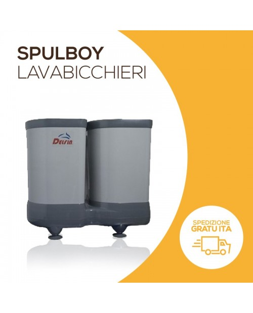 Spulboy glasswasher with double sink